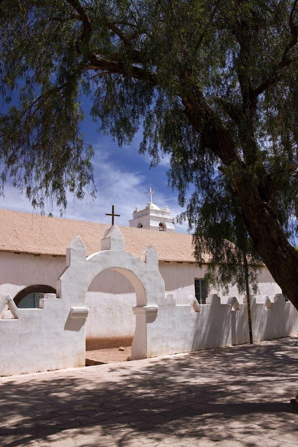 教会在San Pedro de Atacama -智利 免版税图库摄影