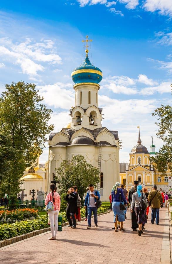 教会在Sergiev Posad 免版税库存照片