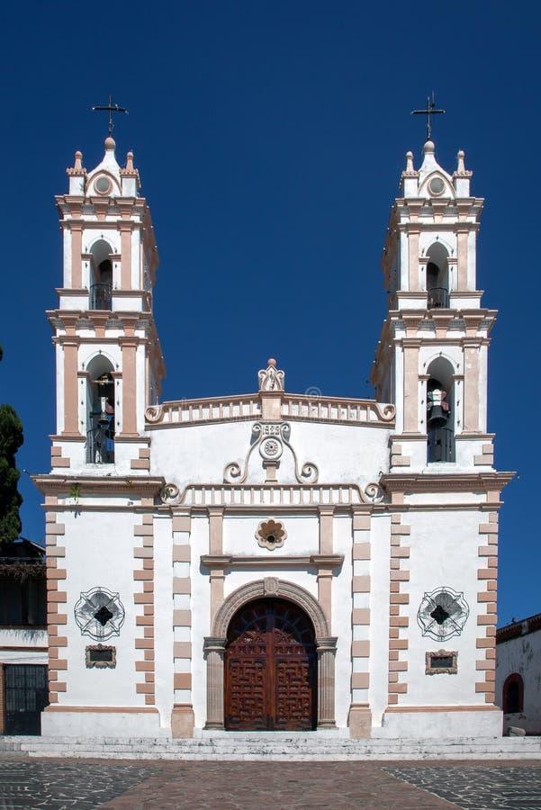 教会在Taxco,墨西哥 免版税图库摄影