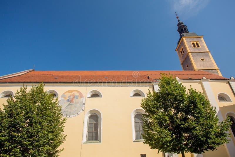 教会在Varazdin,克罗地亚 库存照片