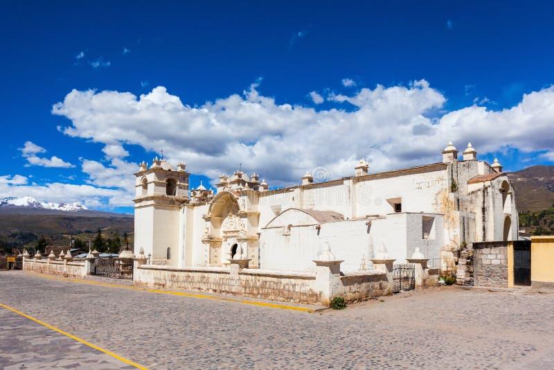 教会在Yanque 免版税库存图片
