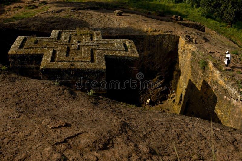 教会埃塞俄比亚乔治lalibela st 免版税图库摄影