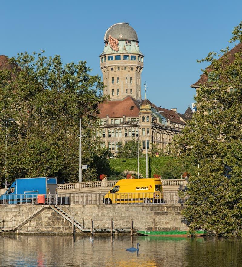 教会城市都市风景时钟表盘最大的彼得s st瑞士塔世界苏黎世 库存图片