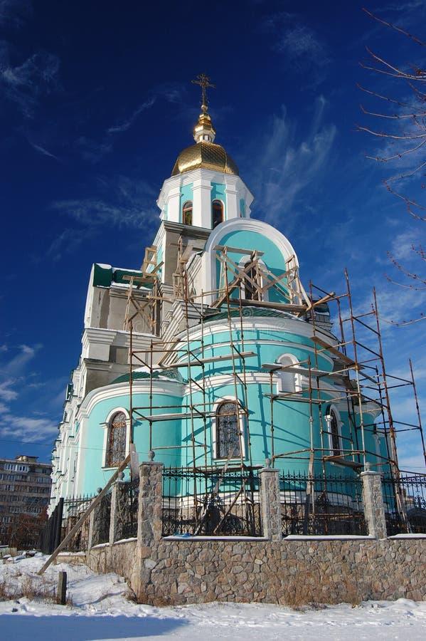 教会基辅老乌克兰 免版税库存照片