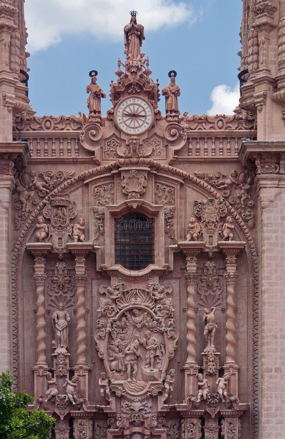 教会墨西哥prisca圣诞老人taxco 免版税库存照片