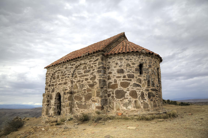 教会复活 修道院Udabno 库存照片