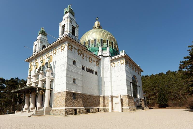 教会奥多・维也纳wagner 库存图片