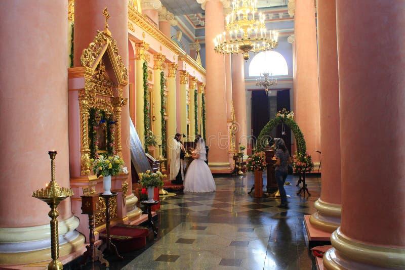 教会婚礼 免版税图库摄影