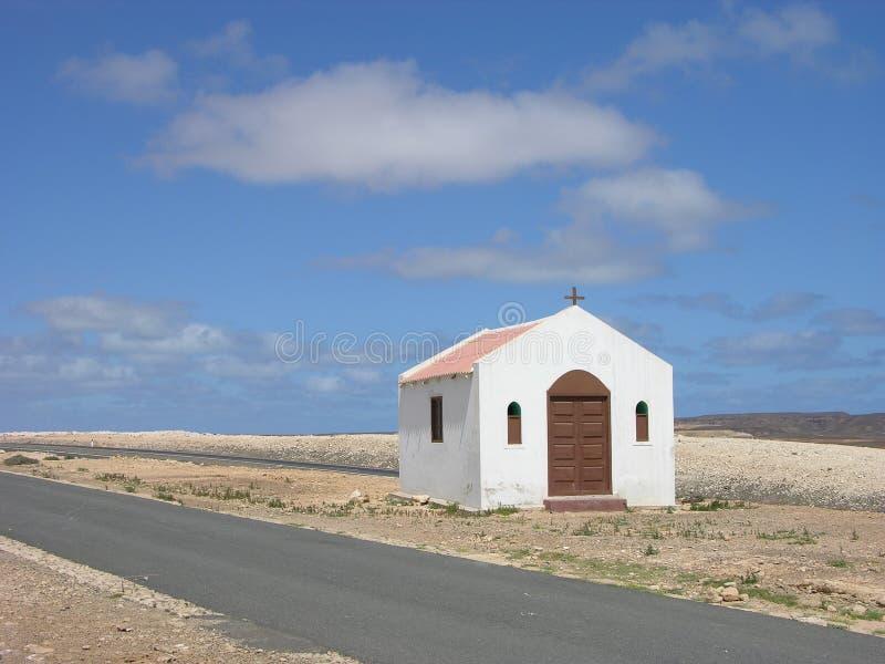 教会小的白色 库存照片