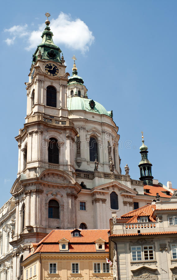 教会尼古拉斯・布拉格圣徒 免版税库存照片