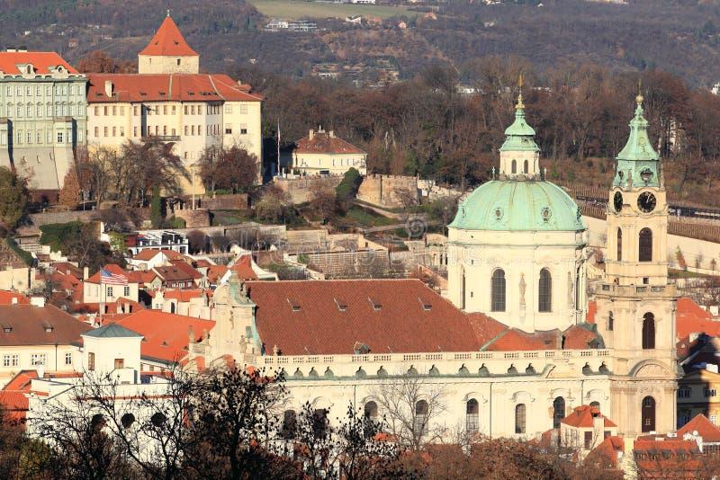教会尼古拉斯・布拉格圣徒 免版税库存图片