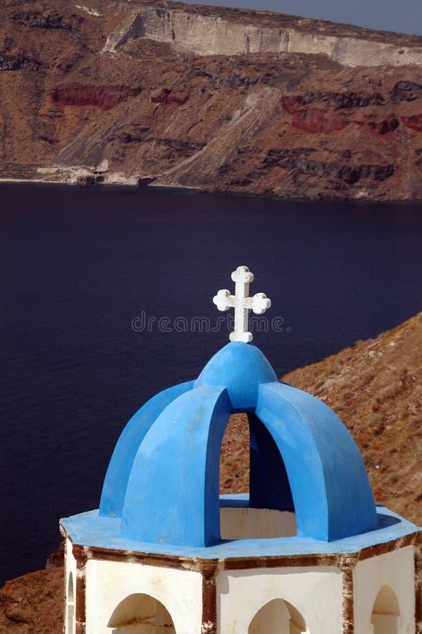 教会希腊海岛 免版税库存图片