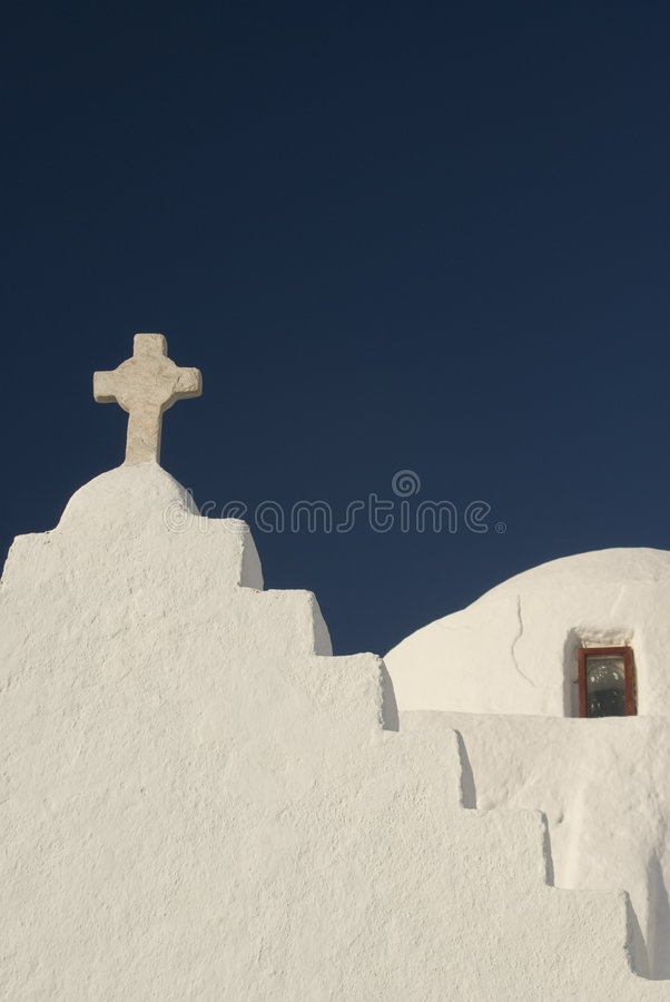教会希腊老 库存照片