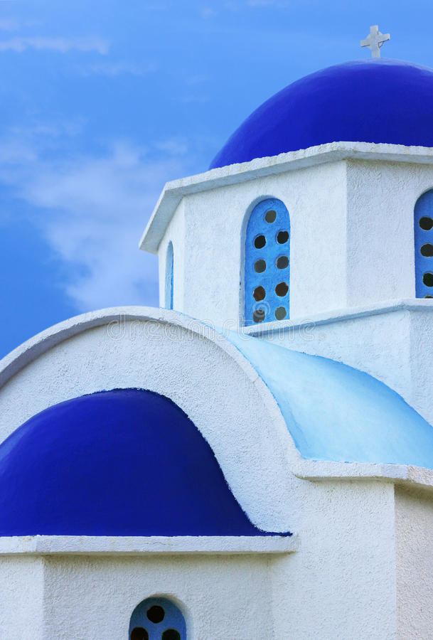 教会希腊ikaria海岛 免版税库存照片