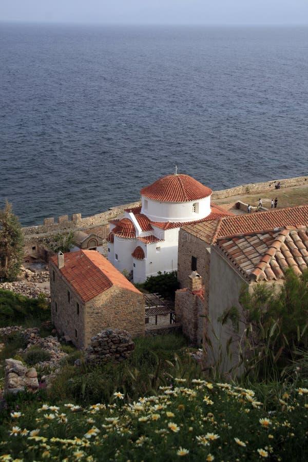 教会希腊monemvasia 库存图片