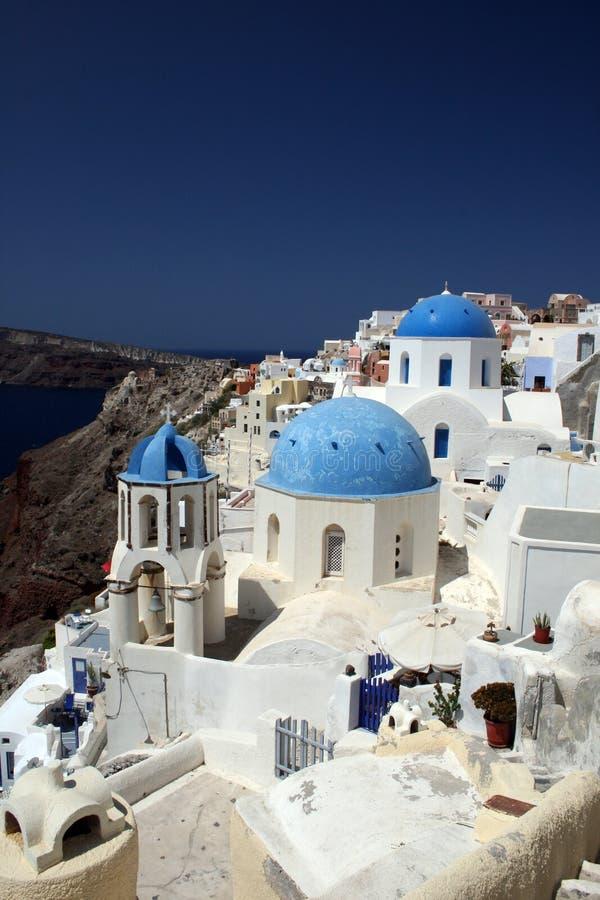 教会希腊oia 库存图片