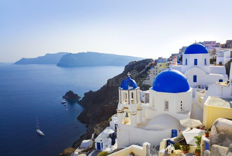 教会希腊oia santorini 免版税图库摄影