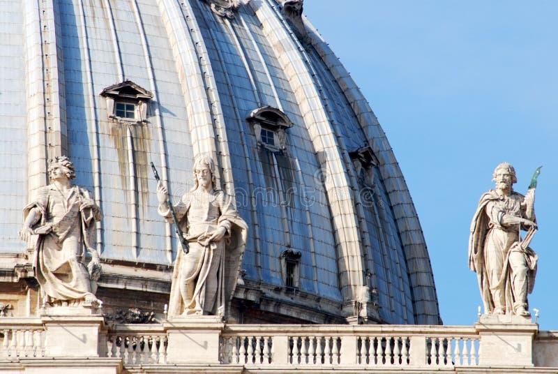 教会彼得・罗马圣徒梵蒂冈 库存照片