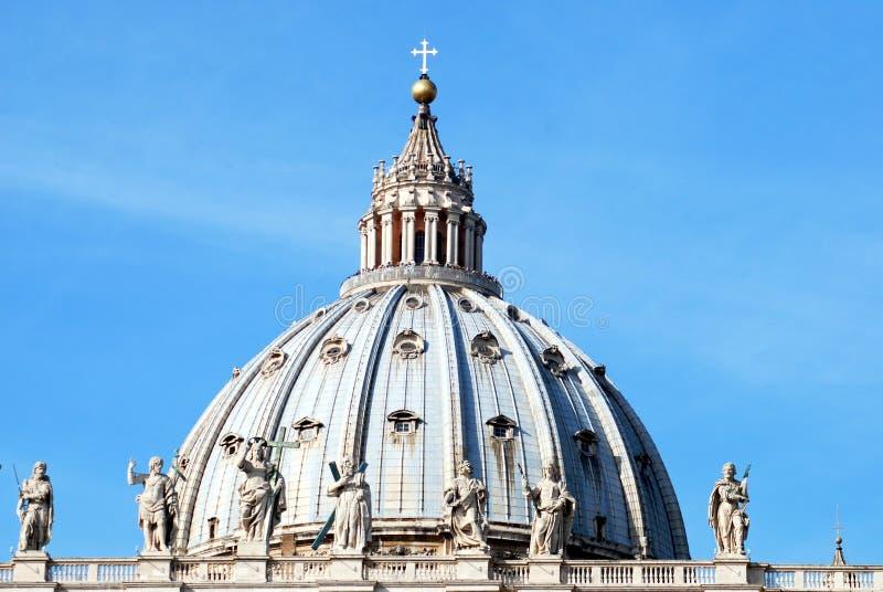教会彼得・罗马圣徒梵蒂冈 图库摄影