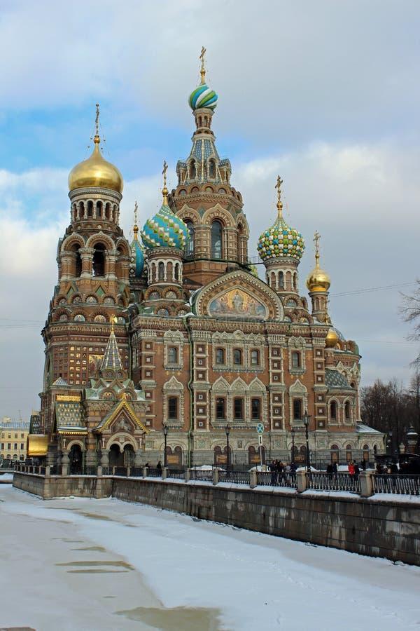 教会彼得斯堡俄国st 图库摄影