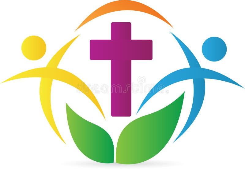 教会徽标 库存例证