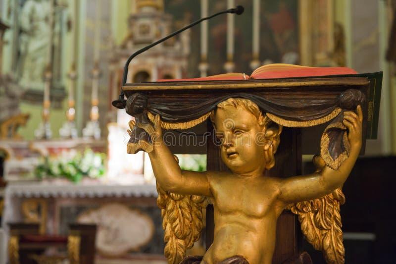 教会意大利人讲坛 库存照片