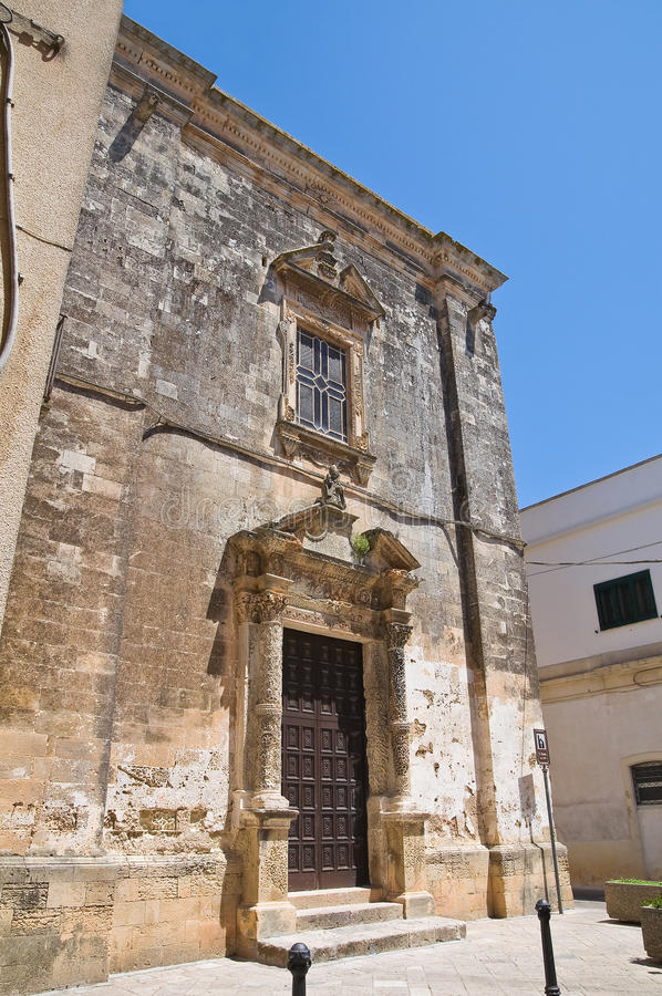 教会意大利nicola普利亚soleto st 库存图片