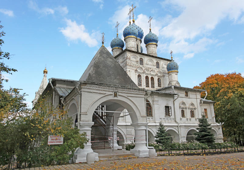 教会我们喀山的夫人 Kolomenskoye,莫斯科 库存图片