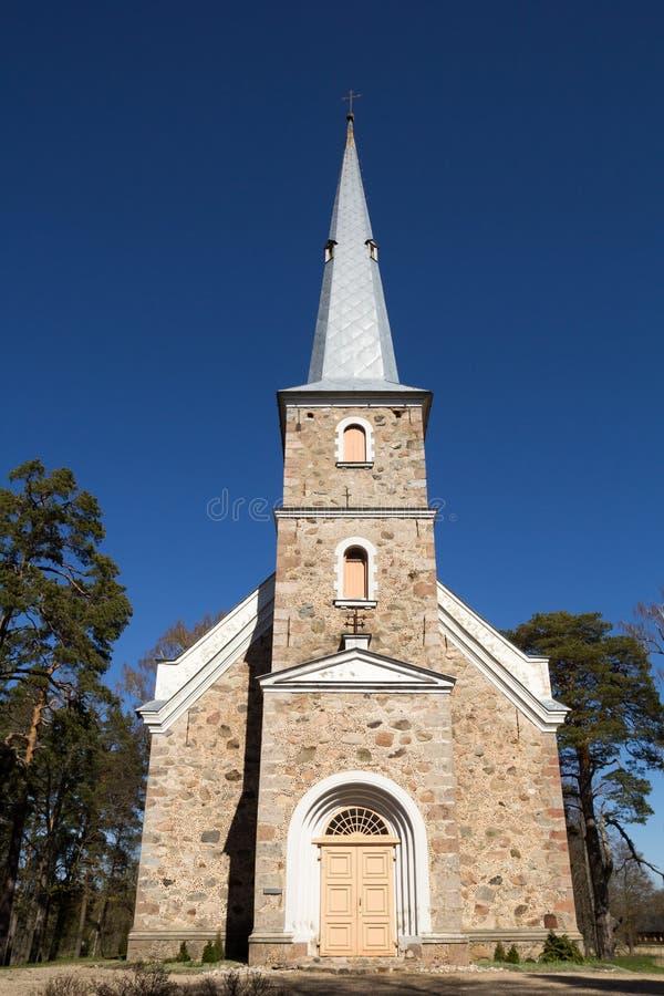 教会拉脱维亚路德教会mazirbe 库存图片