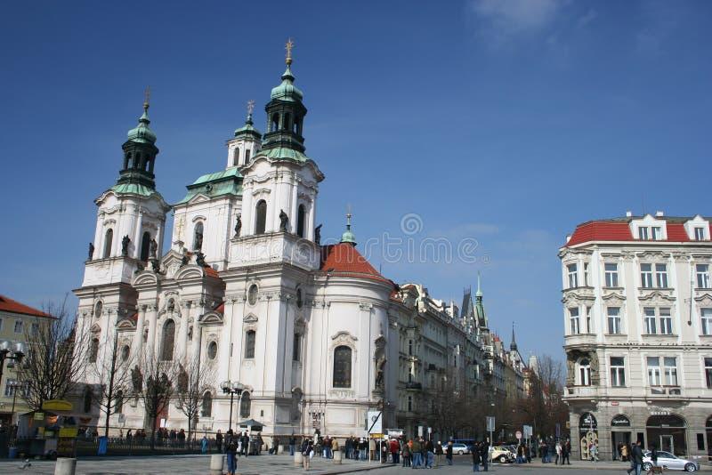 教会捷克尼古拉斯老布拉格共和国正&# 库存照片