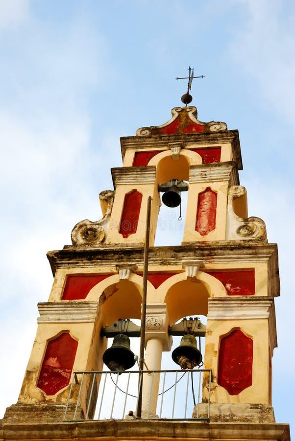 教会接近的corfu希腊 图库摄影