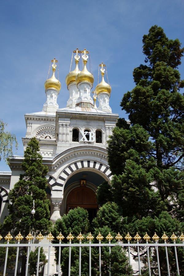 教会日内瓦俄语瑞士 库存图片