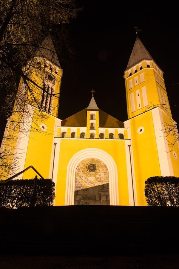 教会晚上 免版税库存照片