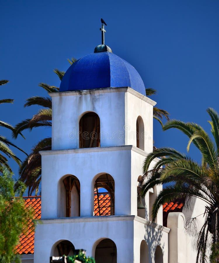 教会构想地亚哥洁净的老圣 免版税库存图片