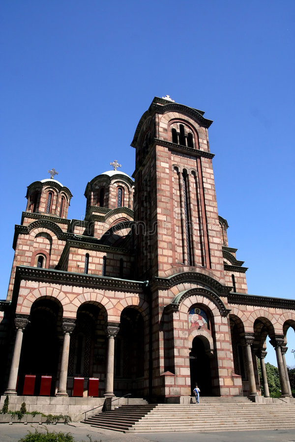 教会标记s st 图库摄影