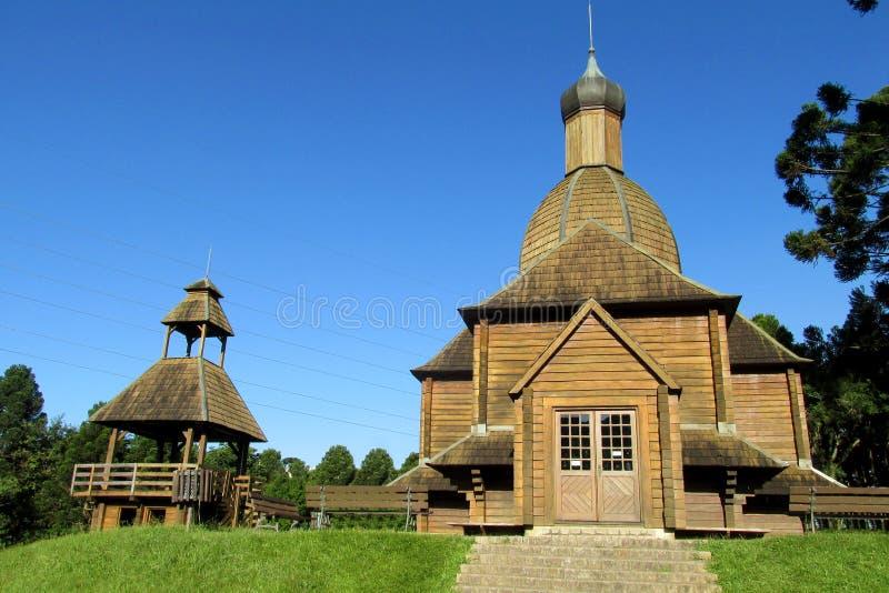 教会正统木 图库摄影