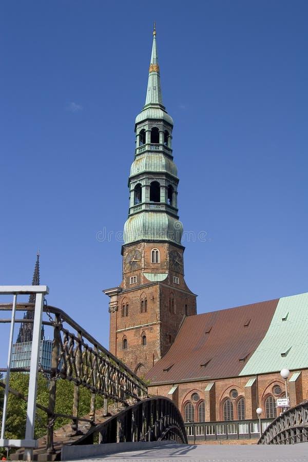 教会汉堡 免版税库存照片