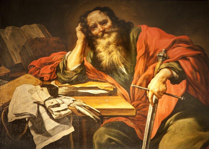 教会油漆巴黎保罗圣徒severin st 图库摄影