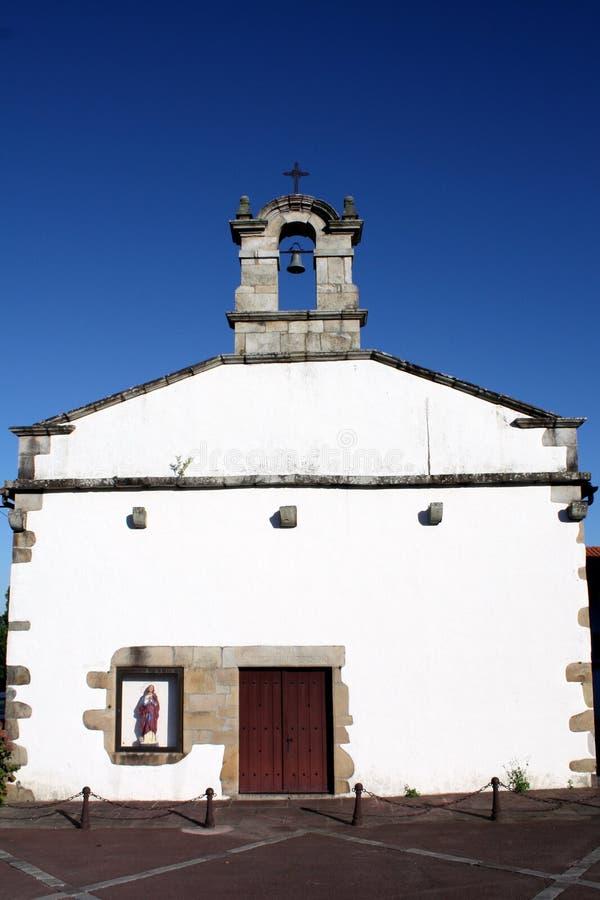 教会法国南西方白色 免版税库存照片