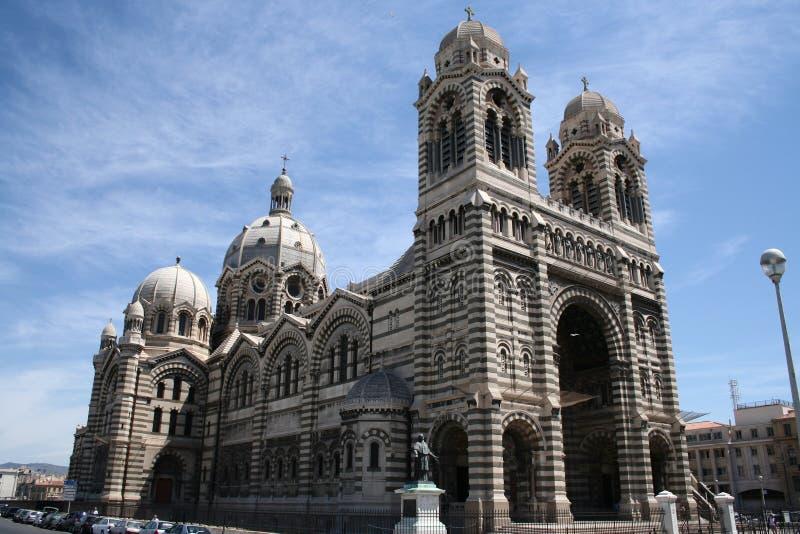 教会法国马赛 免版税图库摄影