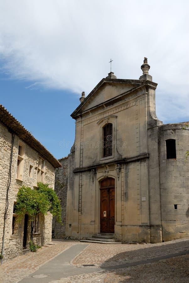 教会法国la长叶莴苣vaison 免版税库存图片