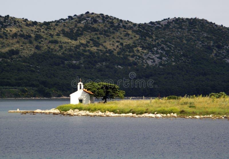 教会海岛 免版税库存照片