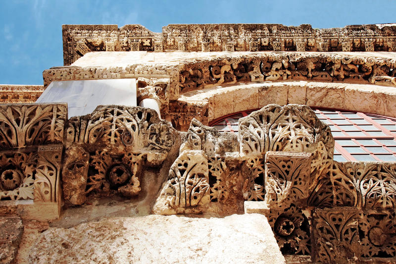 教会片段圣洁坟墓墙壁 免版税库存图片