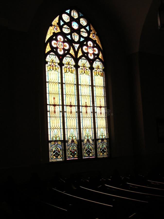 教会玻璃 免版税库存照片