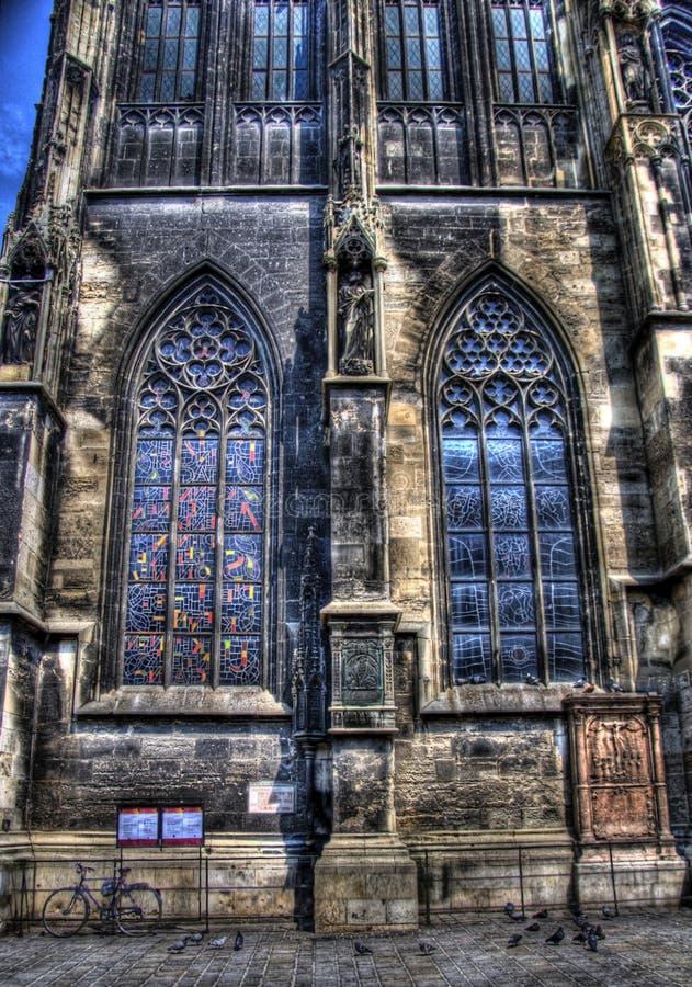 教会玻璃s圣徒被弄脏的斯蒂芬视窗 库存图片