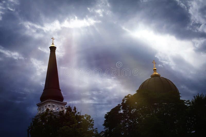 教会的圆顶 免版税图库摄影