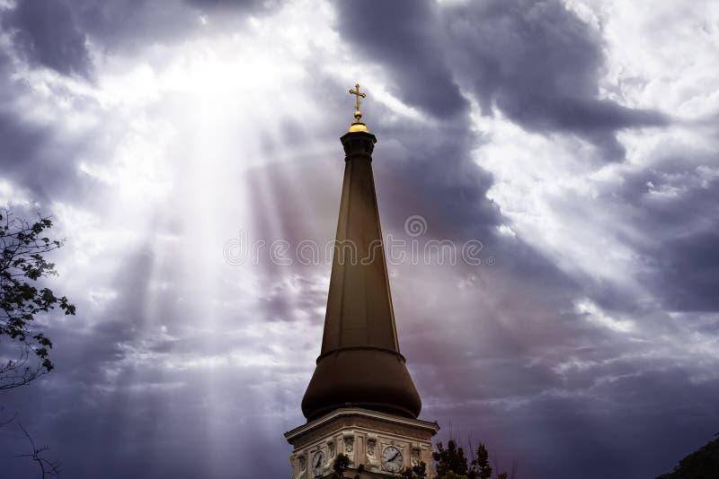 教会的圆顶 免版税库存照片