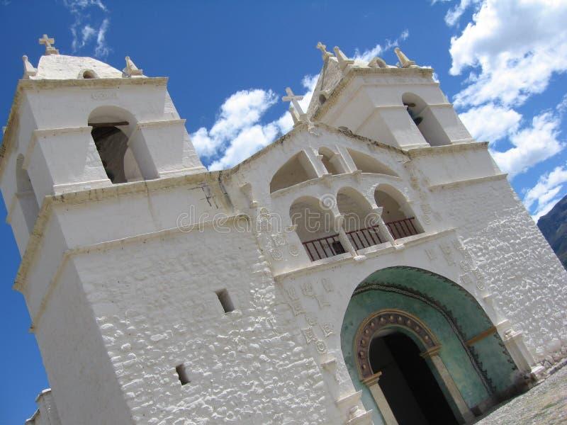 教会秘鲁人 库存图片