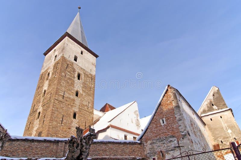 教会筑堡垒于的罗马尼亚transylvania 免版税图库摄影