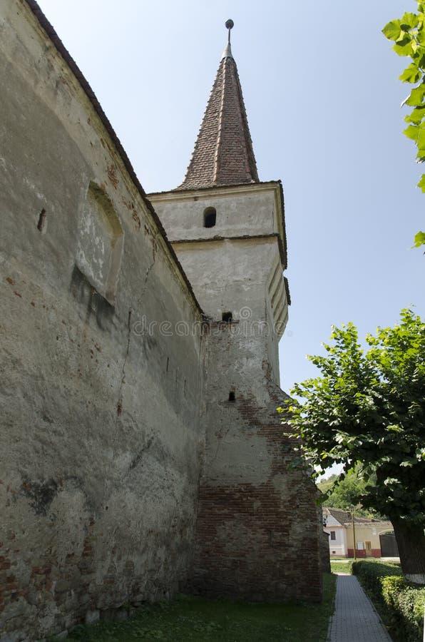 教会筑堡垒于的mosna 免版税库存照片